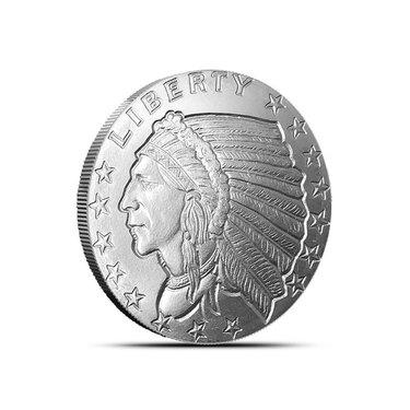 Mercury Dime 1 oz .999 Copper Bullion Rounds in protective case