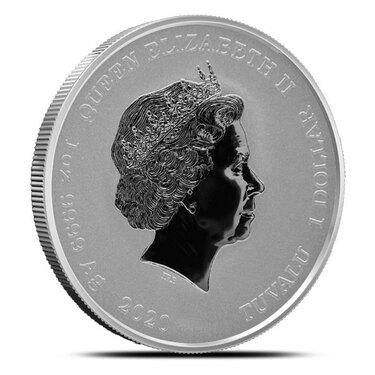 Large Silver Mexico Un Peso Coin -/> Jose Morelos Uncirculated!