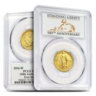 2016 W GOLD MERCURY DIME CENTENNIAL COIN PCGS SP70 FIRST STRIKE MINT BOX//COA